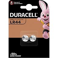DURACELL® piles boutons LR44, 1,5 V, paquet de 2 pièces