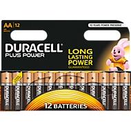 DURACELL® piles PLUS POWER, type Mignon AA, LR 06, 1,5 V, paquet de 12 pièces