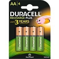 DURACELL® piles rechargeables AA (Mignon), 1300 mAh, 1,2 V, paquet de 4 pièces