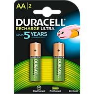 DURACELL® piles rechargeables AA (Mignon), 2400 mAh, 1,2 V, paquet de 2 pièces