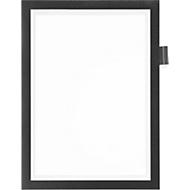 DURAFRAME® Informationsrahmen NOTE A4, magnetische Vorderseite, schwarz