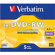 DVD+RW, 4,7 GB, 10 x JewelCase