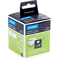 DYMO LabelWriter, Standard Adress-Etiketten, permanent, 89 x 28 mm, 2 x 130 Stück, weiß
