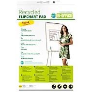 EARTH-IT Blocs pour Flipchart en papier recyclé, 70 g/m², vierge, 5 pièces