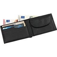 Echtleder-Geldbörse Holiday, schwarz, 4 Steckfächer für Geld- und Visitenkarten