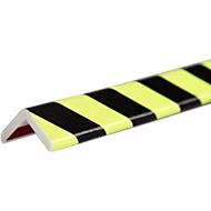 Eckschutzprofil Typ H+, 1-m-Stück, gelb/schwarz, tagesfluoreszierend