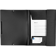 Eckspannmappe Kolma LineaVerde, A4, Gummibandzug, 100 % Recyclingmaterial, schwarz