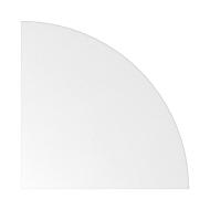 Eckwinkel ULM, gerundet, B 800 x T 800 mm, weiß