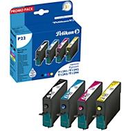Economy set 4 Pelikan inktpatronen, identiek in constructie T129 540, zwart/cyaan/magenta/geel (pigmentinkt), identiek in constructie T129 540.
