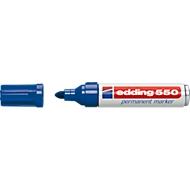 edding 550 permanent marker, Ronde punt 3-4 mm, blauw, 10 stuks