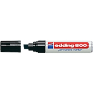edding 800, m. wigvormige punt, 4-12 mm, zwart, 1 stuk