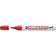 edding 8300 industry permanent marker, rot, 10 Stück