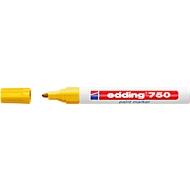 EDDING Lackmarker 750, 2-4 mm, gelb, 10 Stück