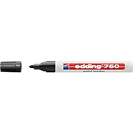 EDDING Lackmarker 750, 2-4 mm, schwarz, 1 Stück
