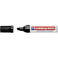 edding Marqueur permanent edding 500, pointe biseautée, 2 - 7 mm, noir, pièce