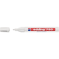 EDDING paint markers 750, 2-4 mm, wit, 10 stuks