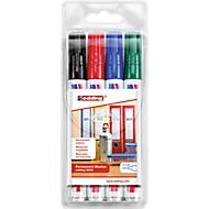 EDDING Permanent Marker 3000, 4 Stück, farbig sortiert