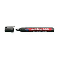EDDING Permanent Marker 330, mit Keilspitze, 1-5 mm, 10 Stück, schwarz
