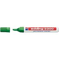 EDDING permanent marker 3300, met wigvormige punt, 1 stuk, groen