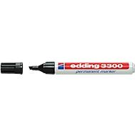 EDDING permanent marker 3300, met wigvormige punt, 10 stuks, zwart