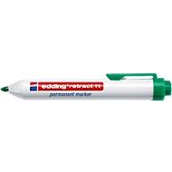 edding retract 11 permanent marker, zonder dop, met drukknop, 1 stuk, groen