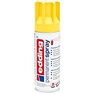 edding Spray 5200, 200 ml, Premium-Acryllack matt, Sprühbreite ca. 50-60 mm, gelb matt
