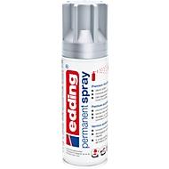 edding Spray 5200, 200 ml, Premium-Acryllack matt, Sprühbreite ca. 50-60 mm, silber matt