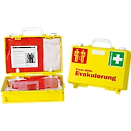 EHBO-koffer evacuatie, met 2 reddingszetels, opvallende kleurencombinatie