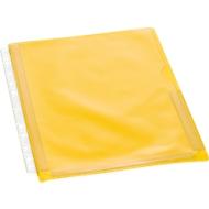 EICHNER Dehnfalten-Dokumentenhüllen, DIN A4, oben offen, rechts halboffen, 10 Stück, transparent/gelb
