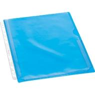EICHNER documenthoesjes met vouw, A4, bovenaan open, rechts halfopen, 10 stuks, transparant/blauw