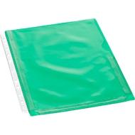 EICHNER documenthoesjes met vouw, A4, bovenaan open, rechts halfopen, 10 stuks, transparant/groen