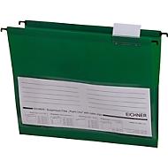 Eichner Hängetaschen, für Formate bis Din A4, PVC, 10 Stück, grün