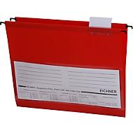 Eichner hangmappen, voor formaten tot A4, pvc, 10 stuks, rood