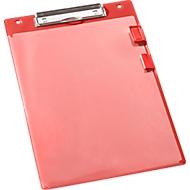 EICHNER klembord, A4, kunststof, met transparant pocket,  A4, rood