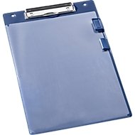 EICHNER Klemmbrett, DIN A4, Kunststoff, mit Klarsichttasche,  A4, blau