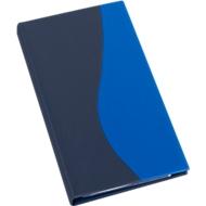 EICHNER ringmap voor visitekaartjespapier Blue, voor 200 visitekaartjes, 4-voudig ringmechanisme, A5