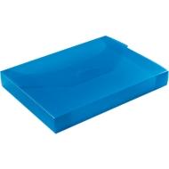 EICHNER Sammelbox, überbreit, Steckverschluss, Polypropylen, transparent-blau