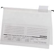 EICHNERT PVC Snelhechthangmappen, A4 formaat, 10 stuks, wit
