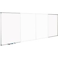 eindeloze whiteboards, set met 2 basismodules, staand formaat, whiteboard