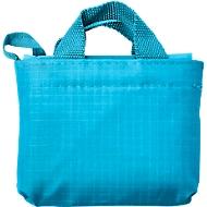 Einkaufstasche ELKE, Kunststoff, 2 kurze Henkel, inkl. Etui, Werbedruck 220 x 200 mm, hellblau