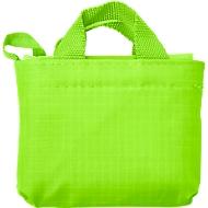 Einkaufstasche ELKE, Kunststoff, 2 kurze Henkel, inkl. Etui, Werbedruck 220 x 200 mm, limettengrün