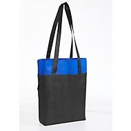 Einkaufstasche HARROD, Boden- & Seitenfalte, Werbedruck 1-farbig 200 x 200 mm, blau