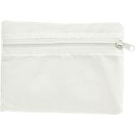 Einkaufstasche KILAMA, faltbar, Werbedruck 160 x 160 mm, 190T Polyester, weiß