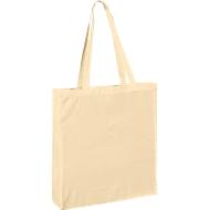 Einkaufstasche Maxi, aus 100 % Baumwolle, mit langen Henkeln, natur
