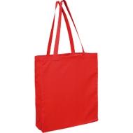 Einkaufstasche Maxi, aus 100 % Baumwolle, mit langen Henkeln, rot