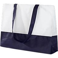 Einkaufstasche Roma, Polypropylen, blau/weiß