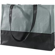 Einkaufstasche Roma, Polypropylen, grau/schwarz