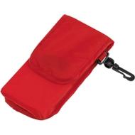Einkaufstasche SHOPPY, faltbar, mit Klettverschlusstasche, Werbedruck 200 x 200 mm, rot