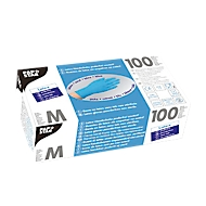 Einmalhandschuhe, Latex, puderfrei, blau, 100 Stück, Größe M