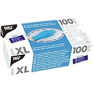 Einmalhandschuhe, Latex, puderfrei, blau, 100 Stück, Größe XL